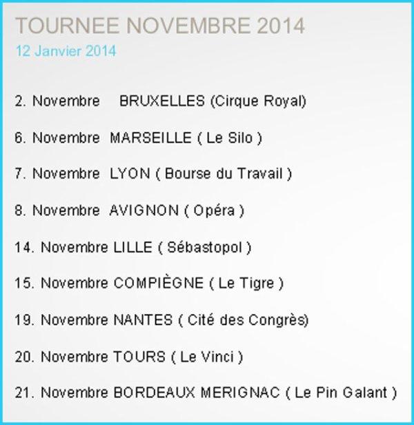 MM SITE OFFICIEL - TOURNÉE NOVEMBRE 2014
