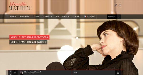 """Visitez Mireille Mathieu Site Officiel - Nouvautés et nouveau """"look""""!!!"""