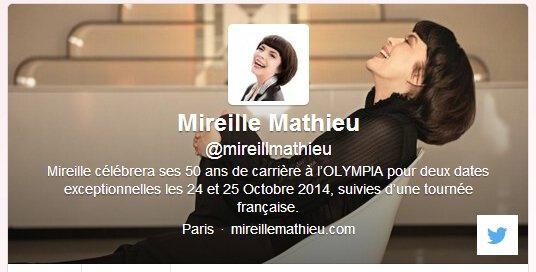 Mireille Mathieu sur facebook et twitter!!!