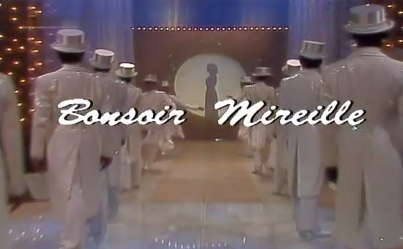 ZDF « Bonsoir Mireille » 15.4.1982 / Archives photos MM