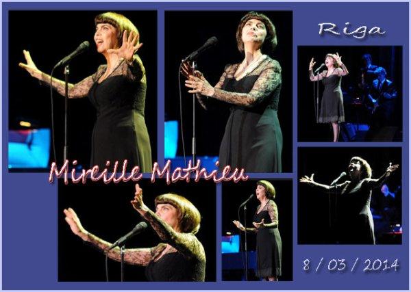 MIREILLE MATHIEU RIGA CONCERT 8 / 03 / 2014