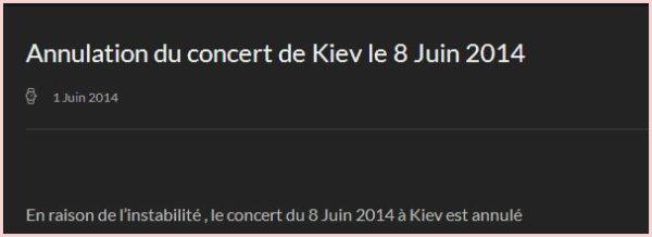 MM Kiev 8 juin 2014 - Annulé