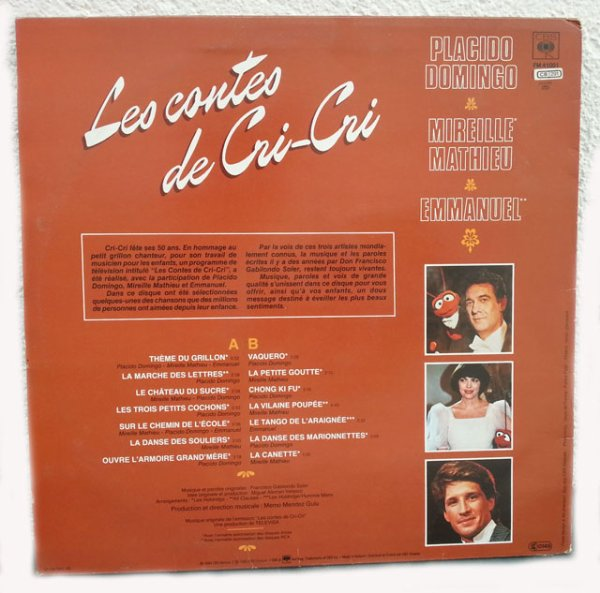 Les contes de Cri-Cri (LP Version française)