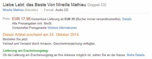 Info MM Amazon - DVD / DOPLE CD - 24 OKTOBER 2014