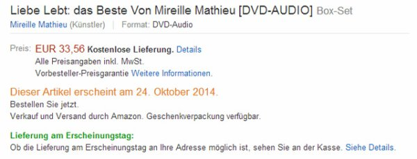 Info MM Amazon - DVD / DOPLE CD - 24 OKTOBER 2014