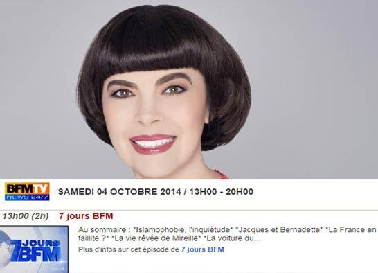 """""""La vie rêvée de Mireille"""" - 7 Jours BFMTV - 4 Octobre 2014"""