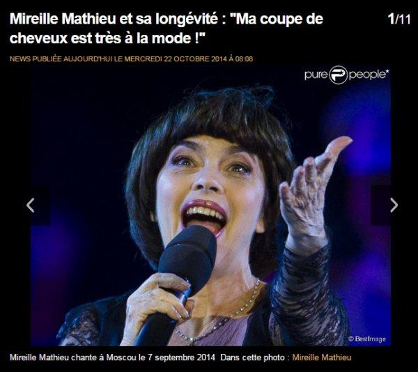 Mireille Mathieu et sa longévité : ''Ma coupe de cheveux est très à la mode !''