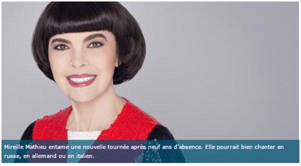 Mireille Mathieu à Lille : « Ma maman est originaire des Flandres »