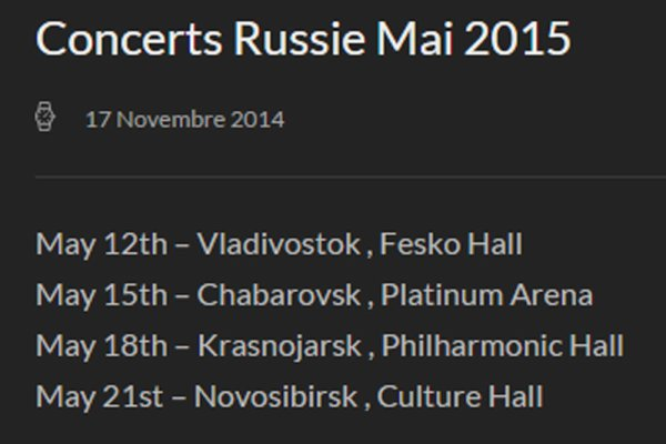 MM 4 CONCERTS - RUSSIE 2015