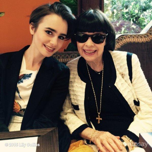 MM - Jolie Rencontre au Bristol avec Lily Collins