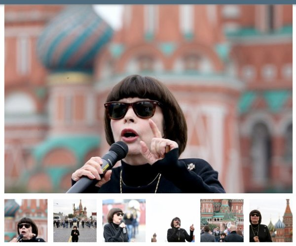 Mireille sur la Place Rouge de Moscou - Septembre 2015