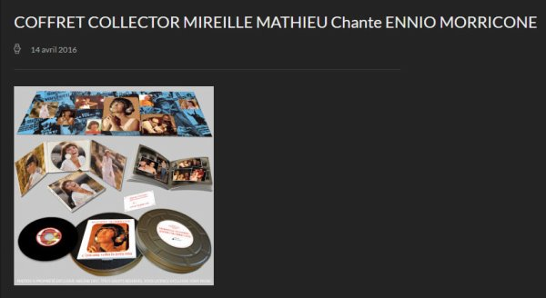 COFFRET COLLECTOR MM CHANTE ENNIO MORRICONE