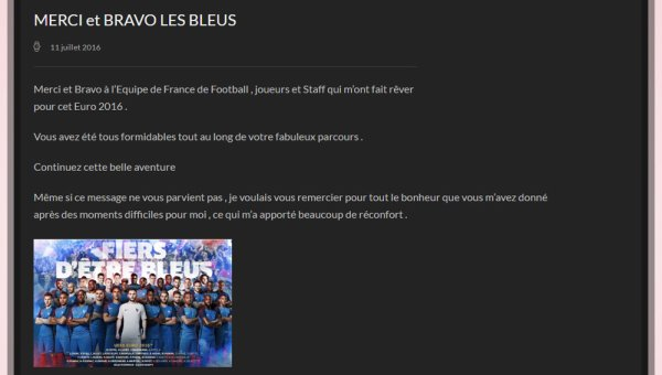 MM Site Officiel - Nouvelles Infos