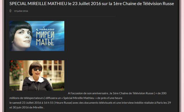 MM Site officiel - SPÉCIAL MIREILLE MATHIEU