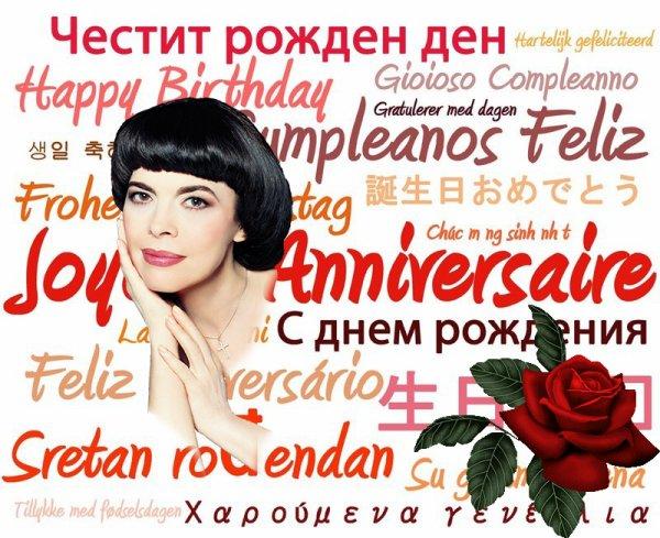 Bon anniversaire Mireille