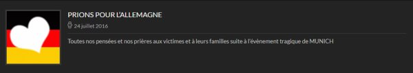 MM Site officiel - PRIONS ÒUR L'ALLEMAGNE