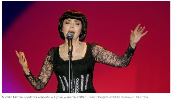Mireille Mathieu - Radio polonaise Interview