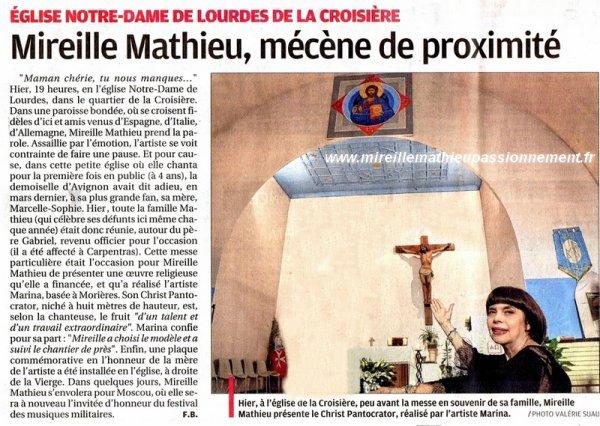 Mireille - Hommage à Madame Marcelle Mathieu - Avignon 22 août 2016
