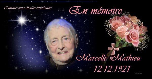Aujourd'hui Marcelle aurait eu 95 ans / 12-12-2016