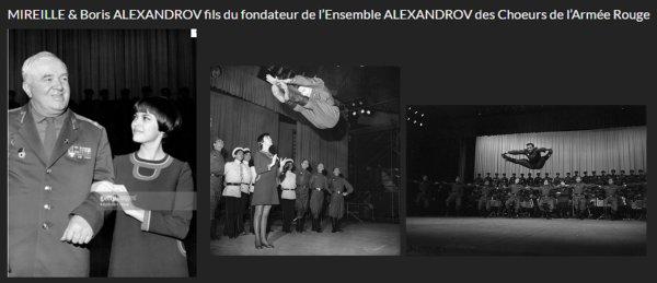 Hommage de Mireille sur le Site officiel aux Choeurs de l'Armée Rouge (1)