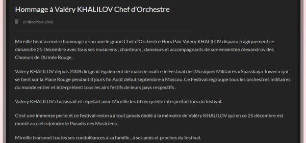 Hommage à Valéry Khalilov - MM Site Officiel