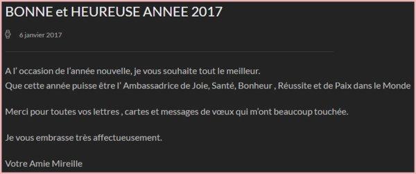 MM Site Officiel - BONNE ET HEUREUSE ANNÉE 2017