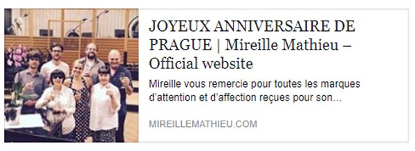 Message de Mireille - Site Officiel