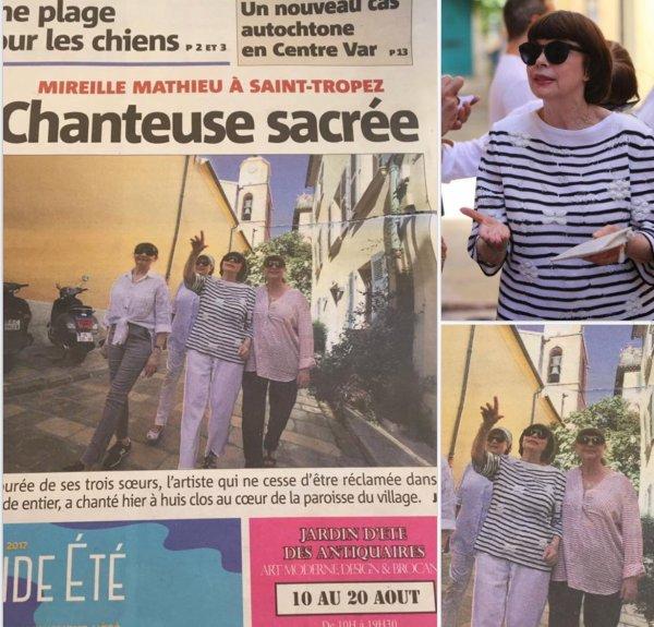 Mireille Mathieu à Saint Tropez