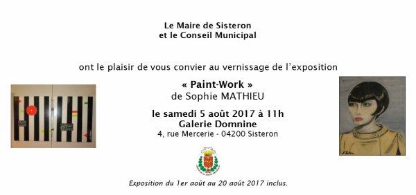 EXPOSITION SOPHIE MATHIEU