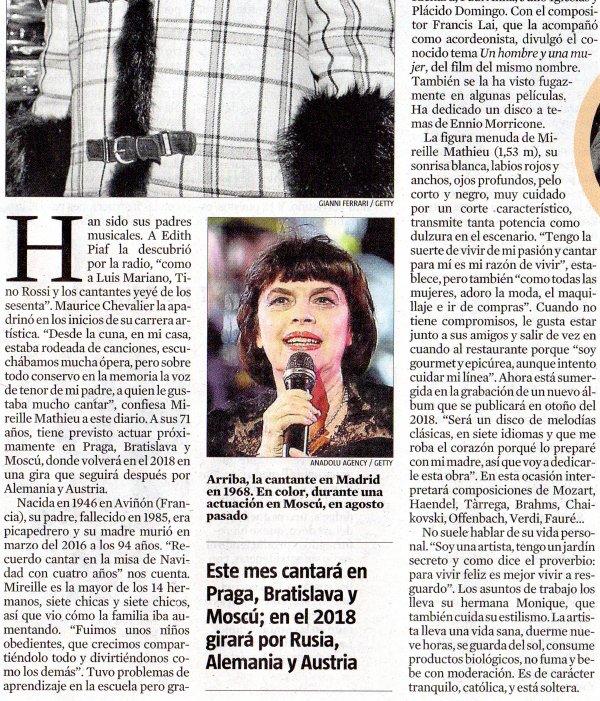 Article MM La Vanguardia - Presse - Samedi 7-10-2017