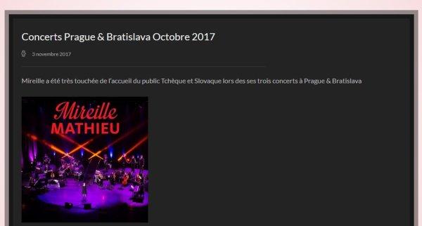 CONCERTS PRAGUE-BRATISLAVA - OCTOBRE 2017