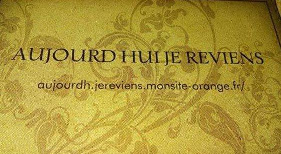 MM Site Aujourd hui je reviens - Message de Philippe