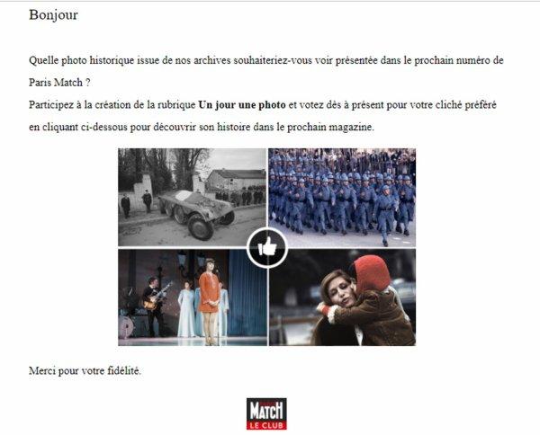 PARIS MATCH - Votez pour Mireille.