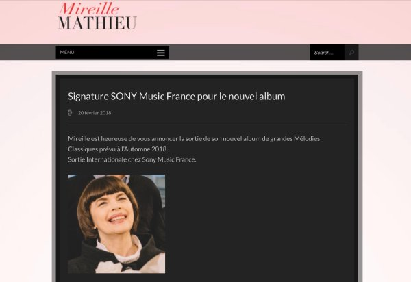 Mireille Mathieu - Signature SONY MUSIC France - Nouvel Album