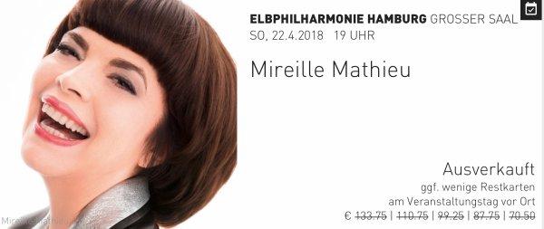 Mireille Mathieu Tournée 2018 Deutschland/Österreich