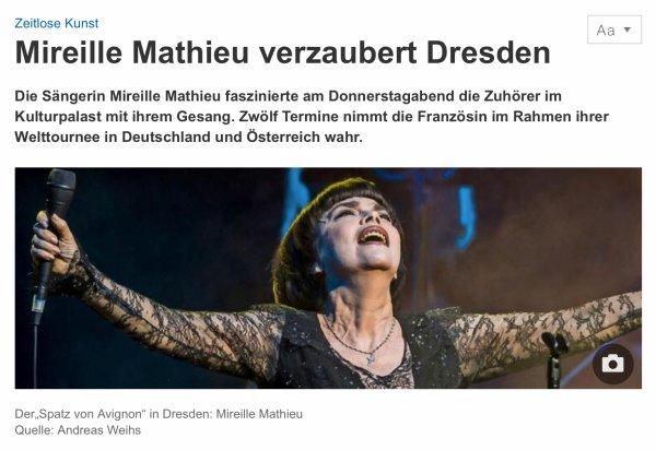 Mireille Mathieu - Dresden 2018 Presse
