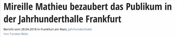 Mireille Mathieu - Frankfurt 2018