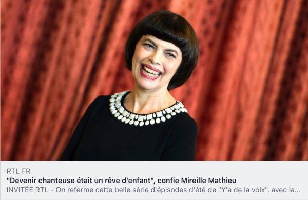 Mireille Mathieu - RTL radio