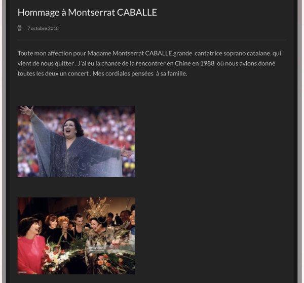 MM Site Officiel - Hommage à Montserrat Cabellé