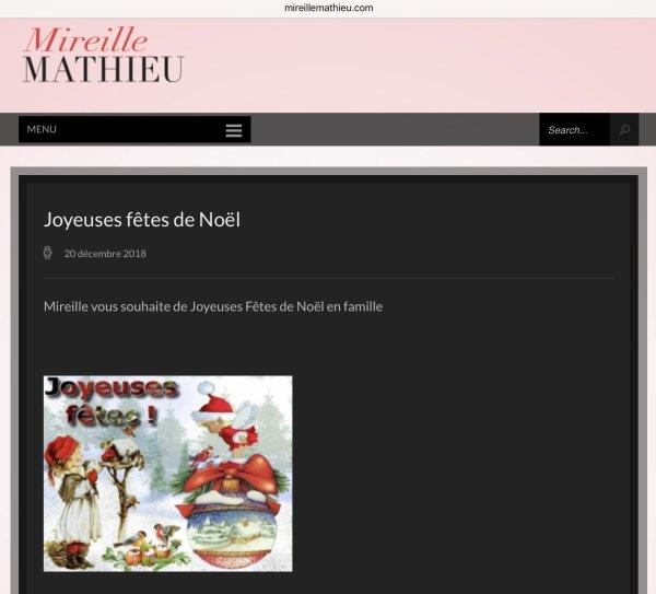 Mireille Mathieu - Site Officiel - Joyeux Noël!
