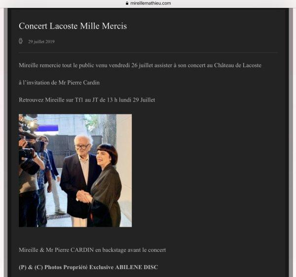 MM Site Officiel - Concert Lacoste - Mille mercis