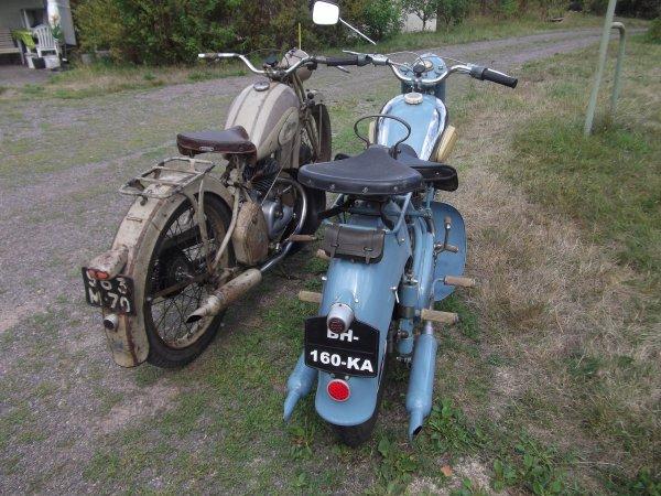 125 peugeot 55GL 1951 et 125 peugeot 55TC 1953
