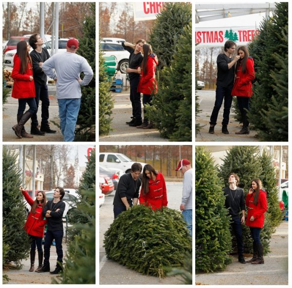 Le 03/12/12 Ian et Nina ont été aperçu achetant leur sapin de Nöel à Atlanta