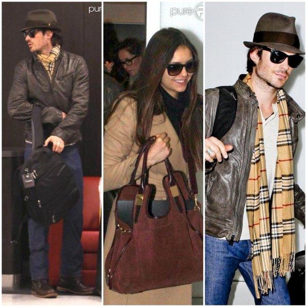 Le 26/12/12 Ian et Nina à l'aéroport de Los Angeles afin de se rendre en Chine