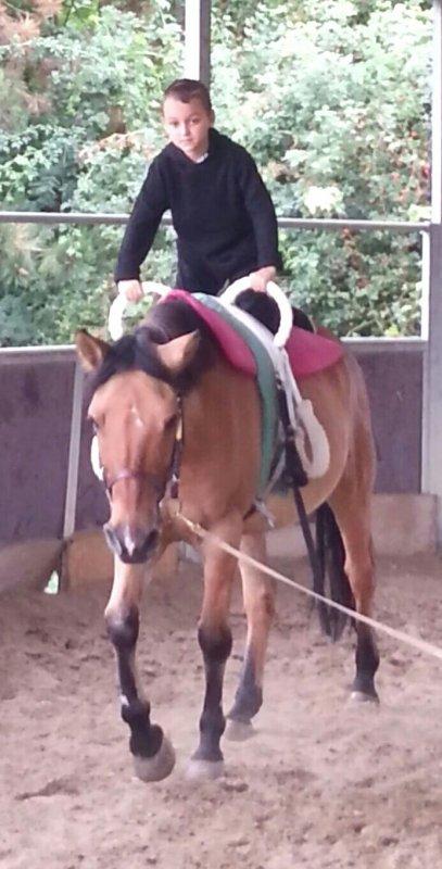 Mon Vince à l' équitation ♥