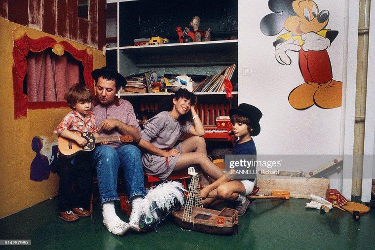 Photo coup de coeur : La famille Colucci pour PARIS MATCH en 1980