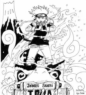 Uzumaki Naruto Noir Et Blanc šš Blastšš Art Et Manga