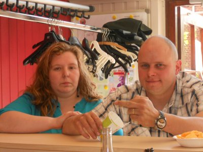mon fils Mickael et sa femme Cindy