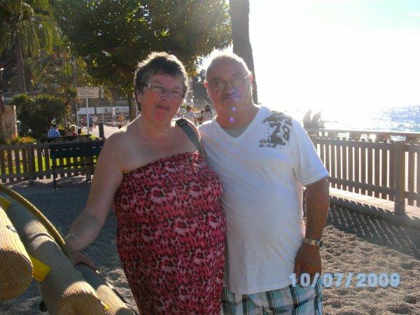 moi et mon mari pour nos vacances en Espagne au mois d'octobre