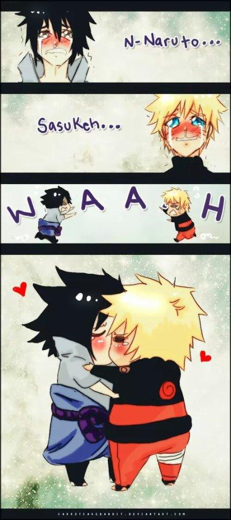 N-Naruto... Sasukeh.